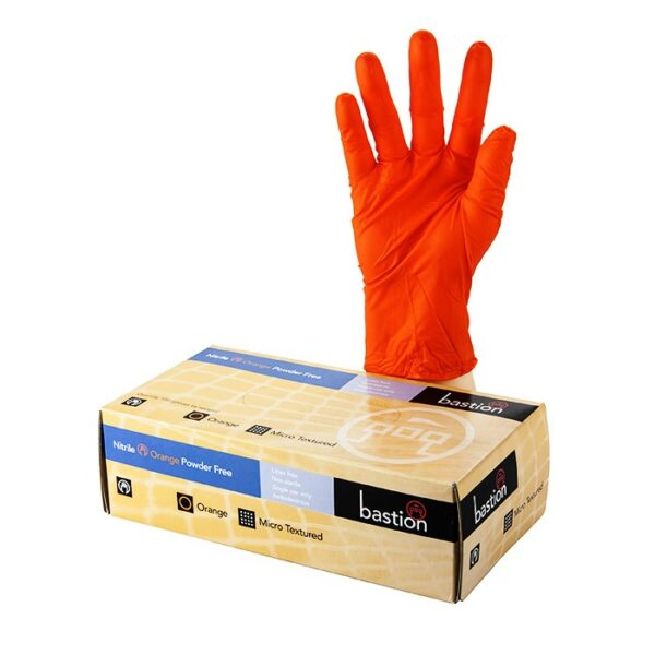 High Quality Bastion nitrile gloves from Bohemian Medical. BAS GN PFO.